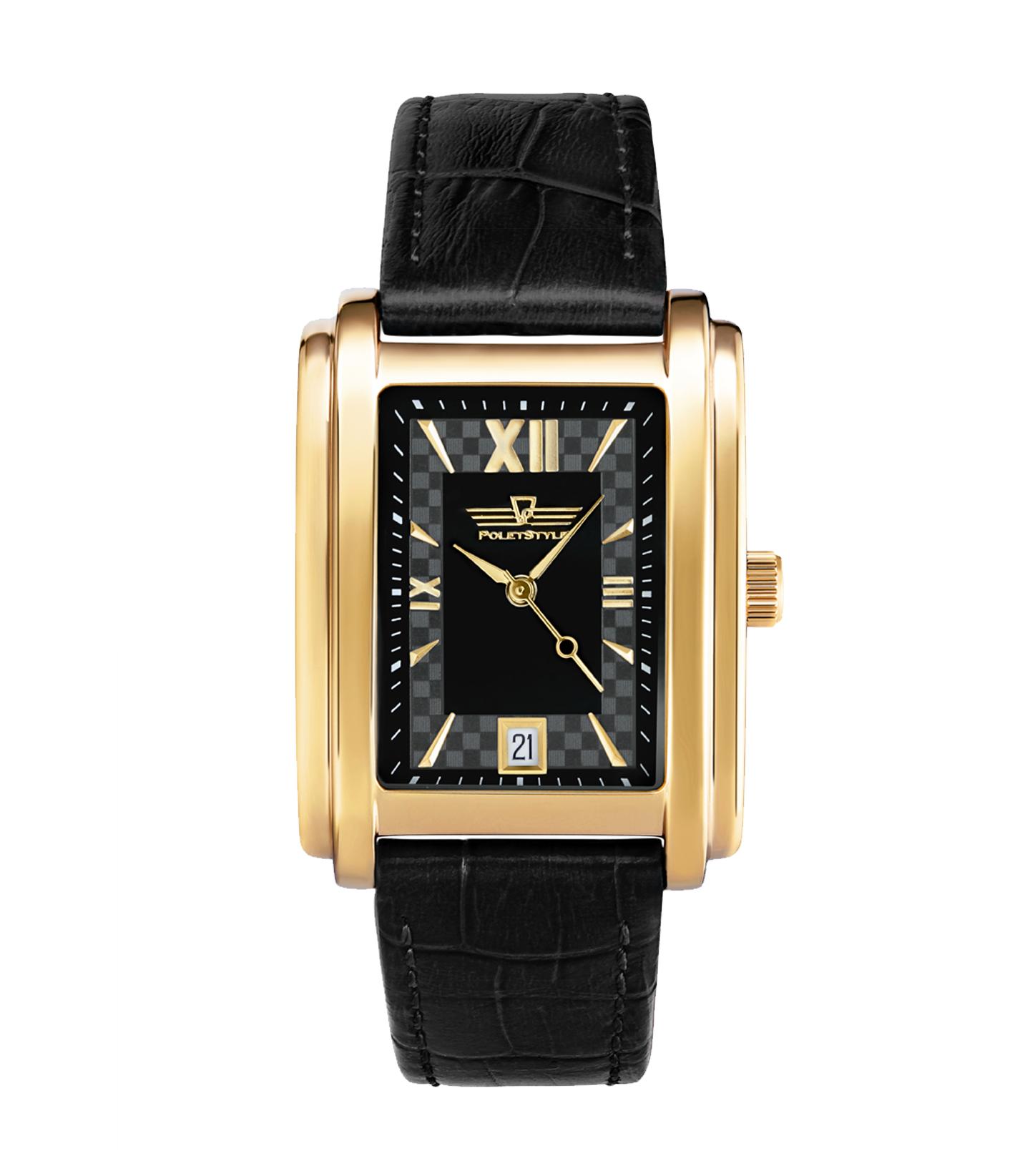 Эти стальные часы с кожаным ремешком разработаны на основе дизайна х годов прошлого века.