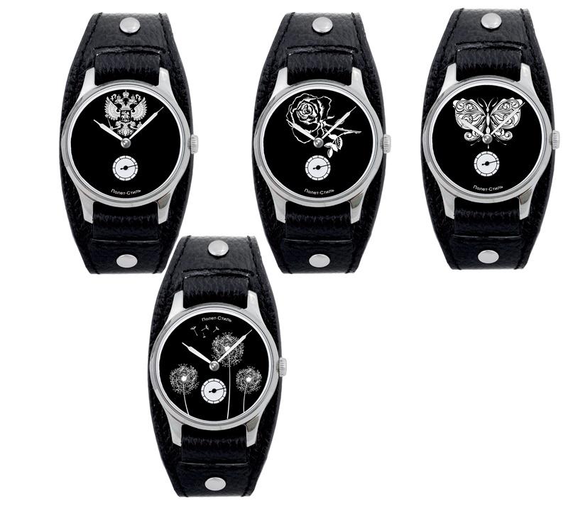 Модель: полет-стиль / наручные часы мужские механизм: механические корпуc: стальной циферблат: белый стекло: минеральное браслет: кожаный ремешок водозащита: 30 м размер (шхг): 36х10,8 мм.